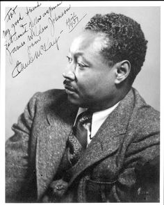"Claude McKay. Jamaican-American poet of the Harlem Renaissance. UK prime minister Winston Churchill ended his address to the US Congress -an effort to encourage American assistance in the war against the Nazis- with a reading of McKay's famous poem ""If We Must Die."""