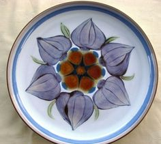 "Denby Chatsworth Plate - Side Buffet Plate 8"" Blue in 