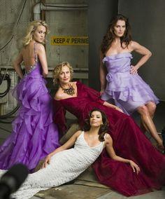 Brooke Shields, Carie Underwood, Lauren Hutton, and Eva Longoria by Annie Lebovitz for Badgley Mischka, Spring/Summer 2009.