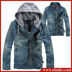Free shipping Men's Hoodie Jeans Jacket coat outerwear hooded Winter coat hoodie denim jacket coat cowboy wear M L XL-in Jackets from Apparel & Accessories on Aliexpress.com