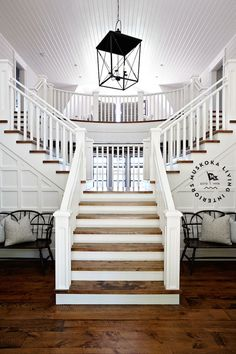 front entrance -beautiful double sided staircase