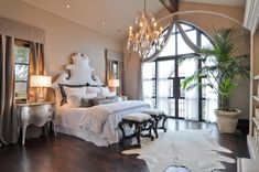 Master Bedroom Design Ideas With 25 Photos-- i really just mostly like the window door of this.