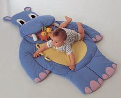 Interesting ideas for decor: RUG hippo  for kids... КОВРИК БЕГЕМОТ ДЛЯ МАЛЫША