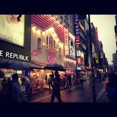 Seoul, South Korea. Myeongdong shopping district!