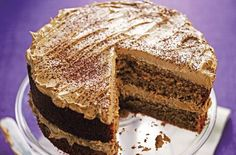 This delicious, moist coffee cake recipe is a classic that will never get old. Triple tested in the Woman's Weekly kitchen, this tasty cake is packed full of a rich, coffee flavour along with a coffee infused buttercream. Easy Cake Recipes, Sweet Recipes, Baking Recipes, Dessert Recipes, Desserts, Party Recipes, Muffin Recipes, Drink Recipes, Gastronomia