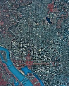 This Monday zoom-out moment brought to you by the EROS Data Center at the This one is a Digital Orthophoto Quad of Washington DC. A DOQ combines the image quality of an aerial photo with the georeferenced qualities of a map Washington Dc, City Photo, The Unit, In This Moment, Digital, Quad, Textiles, Image, Cloths