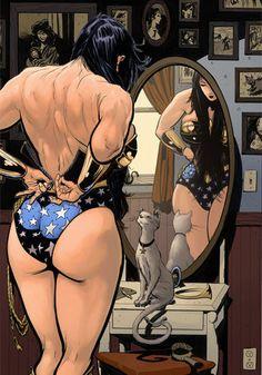 Wonder Woman getting ready?!