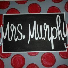 Teacher name sign