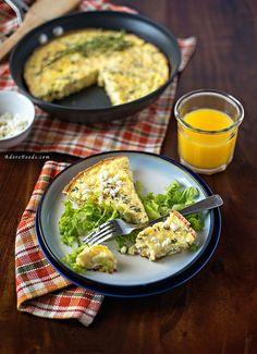 healthy zucchini and corn baked frittata recipe