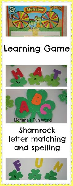 Momma's Fun World: Shamrock rainbow alphabet learning game