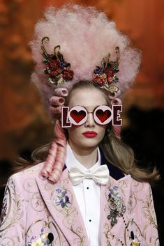 e90fe43084c3 Sunglasses from the Dolce and Gabbana Fall RTW 2018 Show in Milan Dolce    Gabbana
