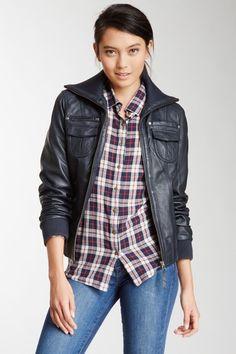 Whet blu Leather Bomber Jacket on HauteLook