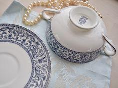 Minton Infanta soup dish and saucer vintage bone china, wedding gift, housewarming, celebration, dinner party Soup Dish, White Damask, Money Box, Ceramic Design, Worcester, Modern Colors, Wedgwood, Bone China, House Warming