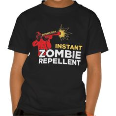 Retro Survival Horror: Boomstick Zombie Repellent T-shirts