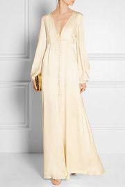 Julianna silk-satin gown