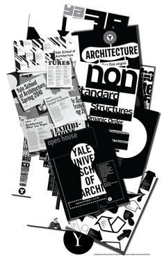 Yale School of Architecture, designed by Michael Bierut Book Cover Design, Book Design, Typo Design, Graphic Design, Yale Architecture, Michael Bierut, Layout Inspiration, Graphic Prints, Good Books