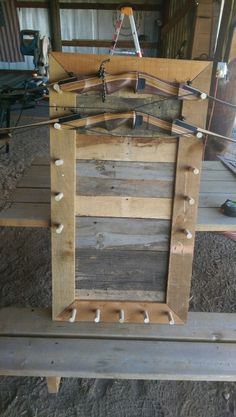 Pallet bow rack for my bows