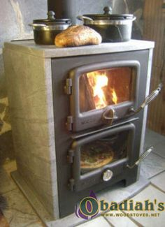 Vermont Bun Baker Soapstone Wood stove Baker's Oven and Hot Water