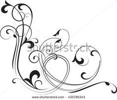 Abstract curve background. Decorative corner. Vector illustration.