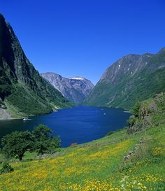 Beautiful fjord of Norway