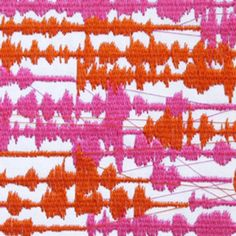 Louisa Bufardi, embroidery used to visualize 13 captured telephone conversations