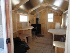 New x Ice Fishing Hut / Shacks North Bay Ontario image 7 Ice Fishing Huts, Ice Fishing Sled, Fishing Shack, Ice Fishing Shanty, Ice Shanty, Fish Hut, Shed Floor Plans, House Plans, Ice Houses