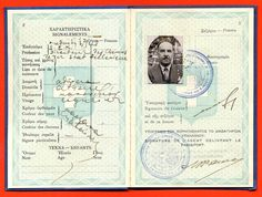 9555 Greece Greek 1938 revenue stamps in travel document pages Booklet, Ephemera, Mythology, Greece, Stamps, Photos, History, Poster, Travel