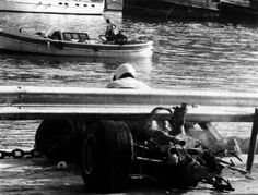 How Clay Regazzoni put his car into this position and survived, has to be classed as a miracle.