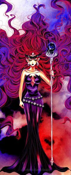 Day 9......  Best Anime Villain: Queen Beryl from Sailor Moon