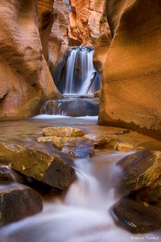 ✯ Red Rock Waterfall - Kanarraville, Utah