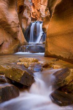 Red Rock Waterfall, Kanarraville, Utah