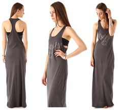 The stylish owl graphic on the front and the long maxi length make the 291 Racerback Owl Maxi Dress a must have!