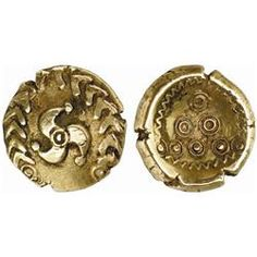 Celtic Coin from Rhineland. Regenbogen schüsselchen. Stater, gold.