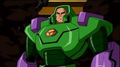 "Lex Luthor at his villainous best in ""Superman-Batman: Public Enemies"" Justice League Animated Movies, Clancy Brown, Behind Blue Eyes, Lex Luthor, Batman And Superman, Man Of Steel, Superhero Party, Dc Heroes, Man Alive"