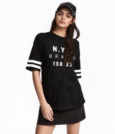 T-shirt with Printed Design | Black/New York | Women | H&M US