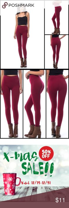 🎄50% OFF❗Dark Wine Thick Full Leggings Dark Wine Thick Full Leggings - PC: D30-11802-DKWINE. Made in China. Fabric content: 85% polyester, 15% spandex. BUNDLE 3+ items for 25% OFF! 💟AVAILABLE 12/28💟 Tease Pants Leggings