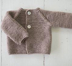 Chaqueta de lana en punto bobo - Nottocbaby