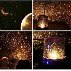 las estrellas en el cielo que llevaron proyector de luz nocturna (color al azar) – USD $ 8.99