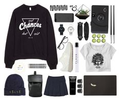 """""""#42"""" by mergitvr ❤ liked on Polyvore featuring NIKE, Jimmy Choo, Forever 21, DESA, French Toast, Givenchy, Uniform Wares, H&M, Sennheiser and Christofle"""