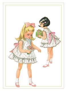 McCalls 8551 Childs Vintage 1966 Dress & Pinafore size 3 Easter Dress / Special Occasion / Flower Girl Helen Lee Sewing Pattern Uncut by on Etsy Vintage Kids Fashion, Vintage Kids Clothes, Vintage Girls, Vintage Children, Sewing Patterns Girls, Vintage Patterns, Girls Pinafore Dress, Vestidos Vintage, Cute Toddlers
