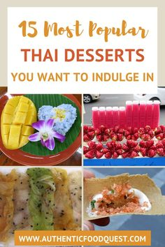 Thai desserts reflect Thai cuisine in the way certain ingredients are used notably rice, coconut and fruits. Thai desserts are known as Khanom in Thai or sweet snacks. We believe that eating Khanom is a great way to end a meal and smoothen the palate after eating spicy Thai dishes. From stick rice to thai ice cream, discover the most popular thai desserts to indulge in Thailand | Authentic Food Quest