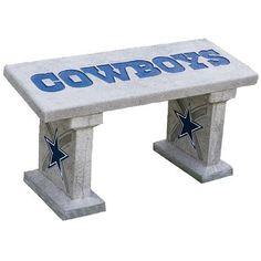 Dallas Cowboys Hand Painted Concrete Garden Bench Home Dallas Cowboys Room, Dallas Cowboys Crafts, Dallas Cowboys Quotes, Dallas Cowboys Pictures, Cowboy Pictures, Cowboys 4, Concrete Garden Bench, Cowboy Crafts, How Bout Them Cowboys