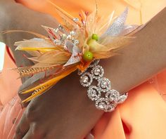 """The Lucky rhinestone bracelet creates a stunning corsage and a beautiful """"keepsake"""" for after prom."""