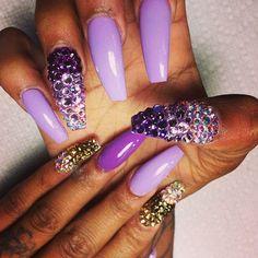 Love the rhinestones #nail art #nail art design #3d nails