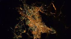 Athens from space by astronaut Tim Kopra