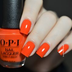 7ca83ae2931 A Red-vival City O.P.i Lisbon Collection 2018  opilisbon  opi2018   opiswatch  . Get NailsFancy ...