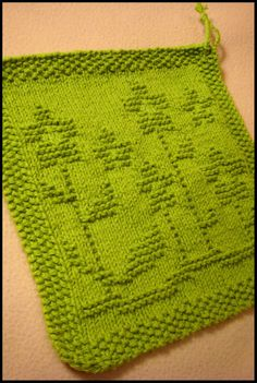 IT'S A SPRING THING DISHCLOTH - BY KRIS KNITS