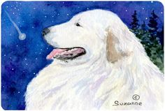 Great Pyrenees Mouse pad, hot pad, or trivet