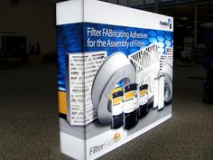 Franklin Backlit Portable Display for the brightest presence on the trade show floor.