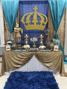 Exotic Events's Baby Shower / Prince - Photo Gallery at Catch My Party Baby Shower Parties, Baby Shower Themes, Baby Boy Shower, Baby Showers, Royal Theme, Royal Party, Prince Party, Cinderella Party, Royal Prince